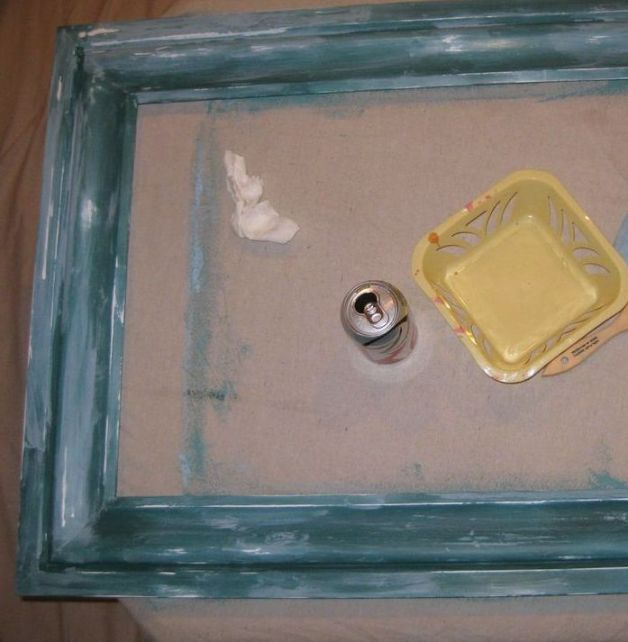 july 9 layering paint bulletin board frame
