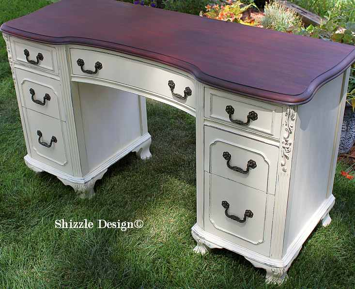 Shizzle Design Antique Vanity Painted In Custom Mixed