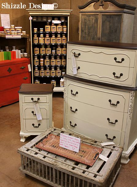 Shizzle Design Michigan #americanpaintcompany white Home Plate Dollar Bill chalk paint nightstand antique highboy dresser gentleman's chest 1