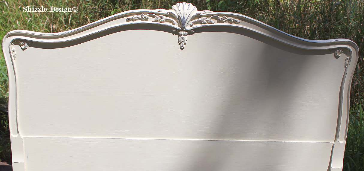 Shizzle Design Gorgeous Antique Mahogany Bed Painted In