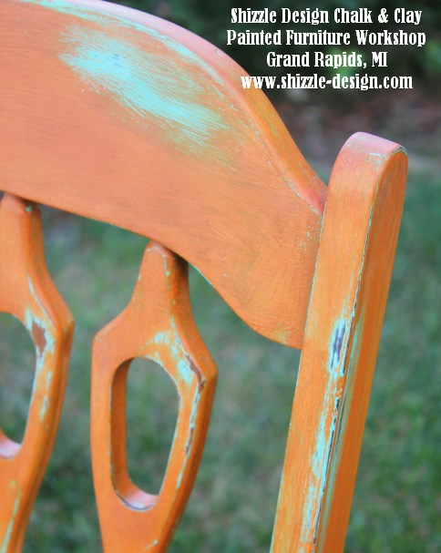 September 14 Shizzle Style Furniture Paint workshops byron center michigan how to diy CeCe Caldwell's Mesa Sunset over Santa Fe Turquoise chalk clay paint 112