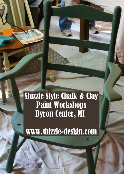 September 14 Shizzle Style Furniture Paint workshops byron center michigan how to diy CeCe Caldwell's Michigan Pine chalk clay paint 10