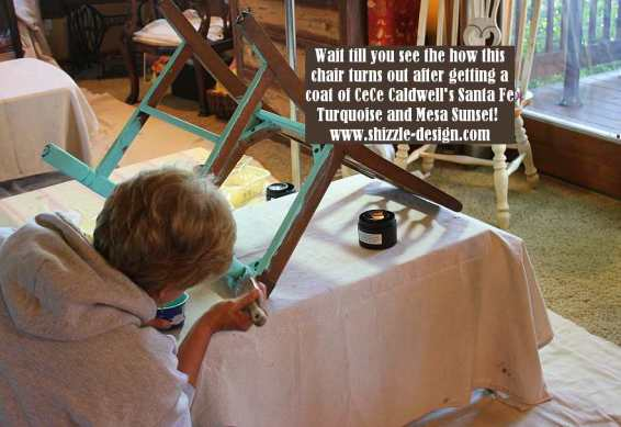 September 14 Shizzle Style Furniture Paint workshops byron center michigan how to diy chair cece caldwell's Santa Fe Turquoise 1