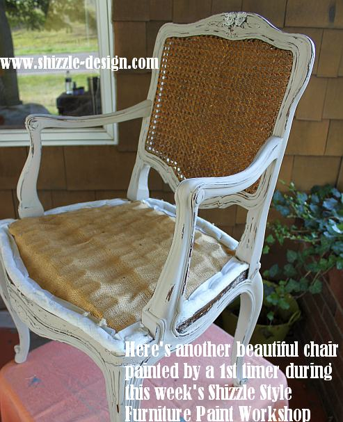 September 15 September Shizzle Style Furniture Paint Workshop Grand Rapids Michigan Young Kansas Wheat Pittsburgh Gray chair www.shizzle-design