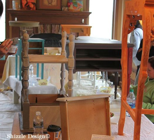 April 20 Shizzle Style Furniture Painting Workshop Byron Center Michigan CeCe Caldwell's Chalk Clay Paint colors ideas tips