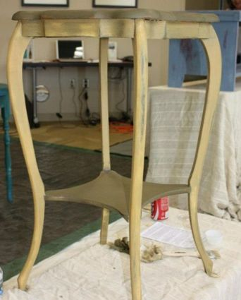 Shizzle Design Furniture Painting Workshop taught at Michigan State University CeCe Caldwell's Chalk Clay Paints ideas colors tables bench end tables tips MSU learn how to 10
