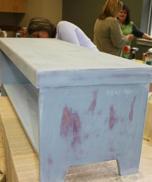Shizzle Design Furniture Painting Workshop taught at Michigan State University CeCe Caldwell's Chalk Clay Paints ideas colors tables bench end tables tips MSU learn how to1