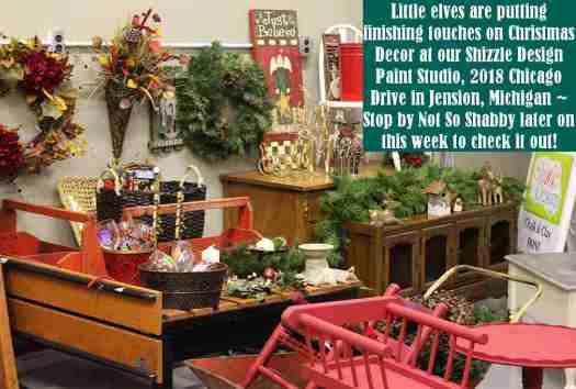 Shizzle Design Painted Furniture 2018 Chicago Drive Jenison Michigan 49428 Christmas Decor 1