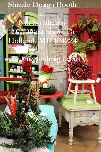 Shizzle Design Painted Furniture 2018 Chicago Drive Jenison Michigan 49428 Christmas Decor 6