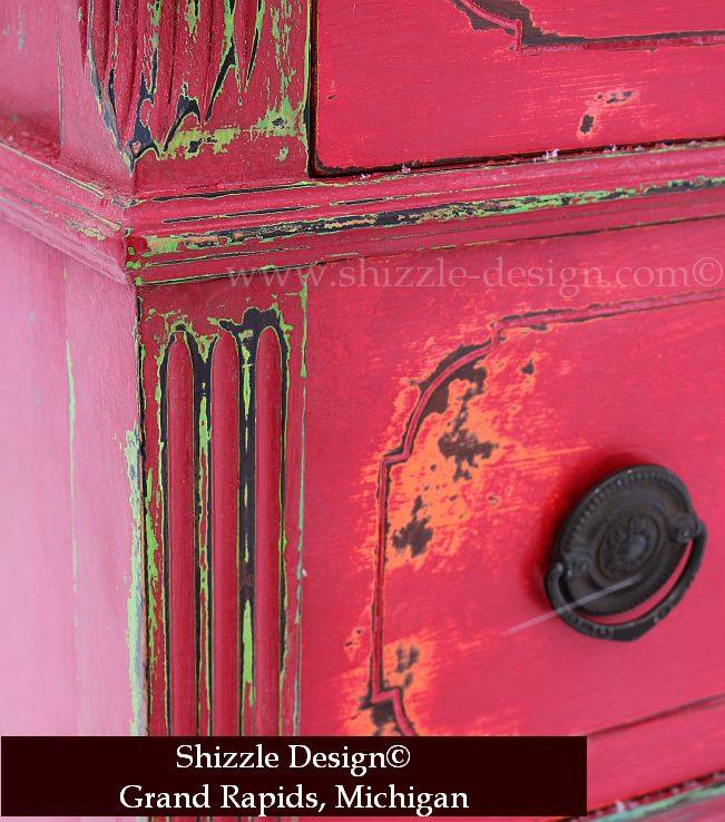 Painting And Distressing Furniture A Funky Chunky