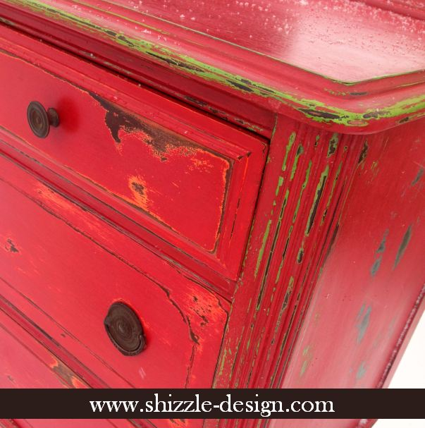 Ho to paint a white dresser red