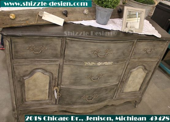 2014 West Michigan's Women's Expo Shizzle Design painted furniture American Paint company chalk clay mineral Paints 2018 Chicago Dr Jenison, MI  49428 DeVos Grand Rapids bufffet antique