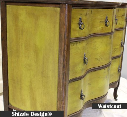 Shizzle Design American Paint Company Waistcoat olive green furniture dresser ideas dark wax michigan retailer West Michigan Women's Expo 8