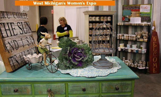 shizzle design painted furniture west michigan's women's expo grand rapids mi DeVos Place