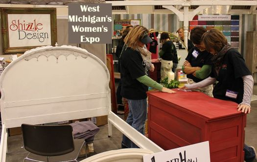 west michigan's women's expo shizzle design painted furniture