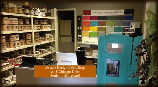Shizzle Design paint studio 2018 chicago drive jenison MI 49428 authorized retailer American Paint Company chalk clay paint shop buy