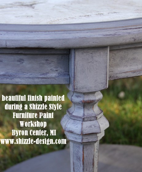 #shizzledesign furniture paint workshops chalk clay best Grand Rapids MI how to table #cececaldwells #americanpaintcompany 3 Virginia Chestnut Pittsburgh Gray