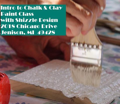 Creating texture with chalk and clay paints shizzle design best classes grand rapids MI 2018 chicago Drive Jenison 49428 American Paint Company