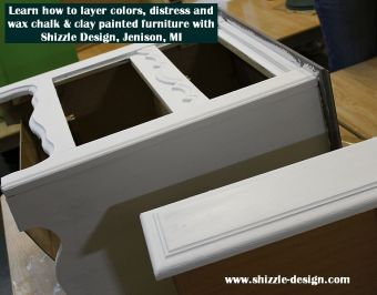 Learn how to layer chalk clay paint colors DIY ideas inspiration Shizzle Design painted furniture makeovers workshops best class Jenison Michigan American Paint Company 4