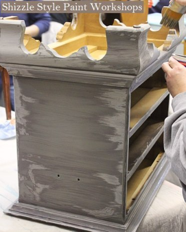 Learn how to layer colors chalk clay paints Shizzle Style furniture paint workshop Jenison MI American Paint Company Paints best ideas 7