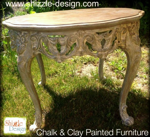Company Shizzle Design chalk clay painted furniture table Sackcloth Cameo ideas Michigan 4
