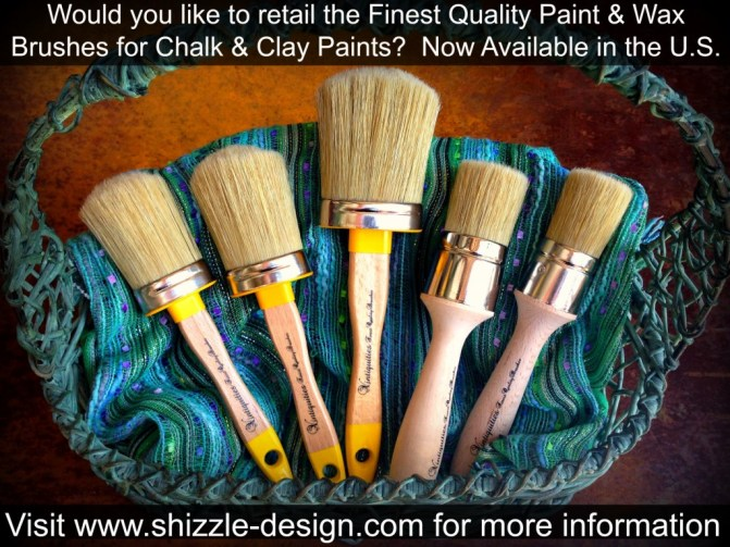 Vintiquities finest paint and wax brushes U.S. Distributor retailer opportunities Shizzle Design 1