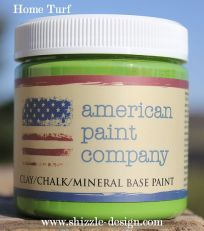 Home Turf sample pot jar from American Paint Company chalk clay paint Shizzle Design colors ideas
