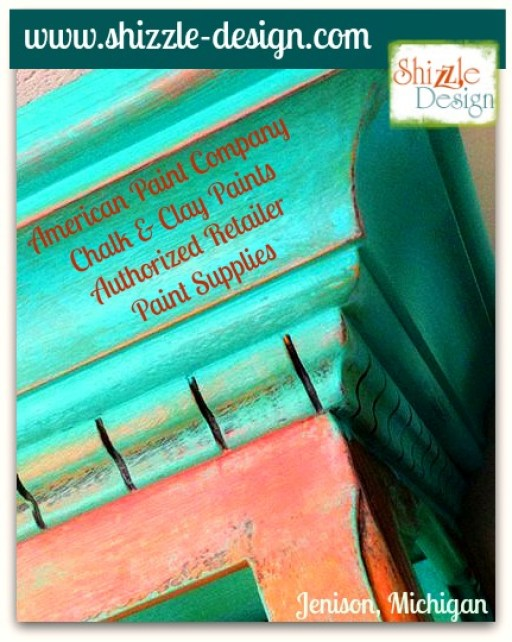 Shizzle Design buy American Paint Company retailer Michigan chalk clay turquoise orange whimisical funky colors supplies