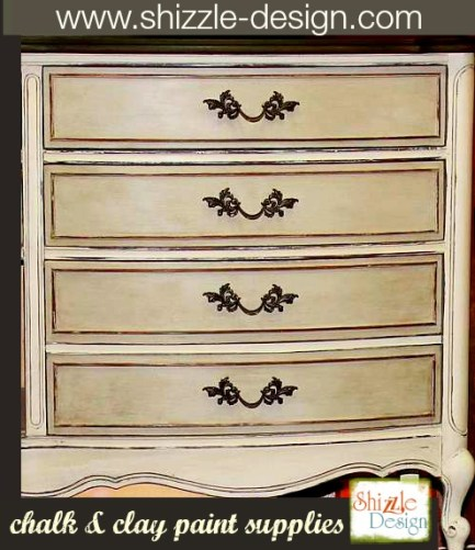 French Provencial dresser painted in gray white taupe rushmore chalk paint shizzle design ideas
