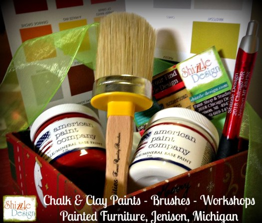 American Paint Company chalk & clay paint company paint and Vintiquities brushes Shizzle Design Grand Rapids Michigan