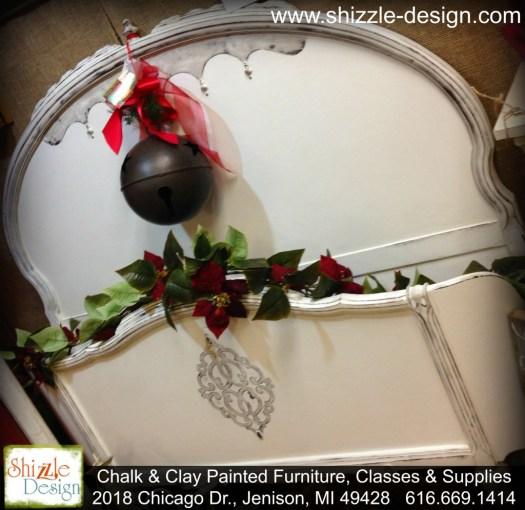 Christmas 2014 American Paint Company retailer Shizzle Design Chalk paint supplies antique white bed furniture