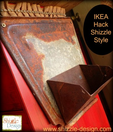 Ikea Hack fabric Junk Gypsies Kitchen Island red chalk paint ideas shizzle design chevron burlap barn wood metal rust - Copy