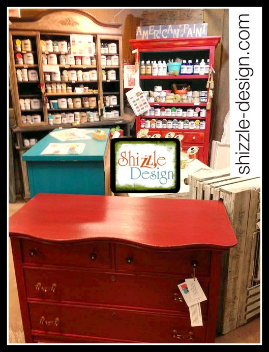 Shizzle Design Little Red Vintage Dresser