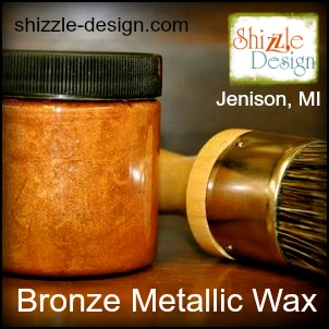 Metallic Bronze Wax Shizzle Design Largest Selection of Chalk Clay Mineral Paints Grand Rapids Michigan Paint supplies Retailer where to buy 2