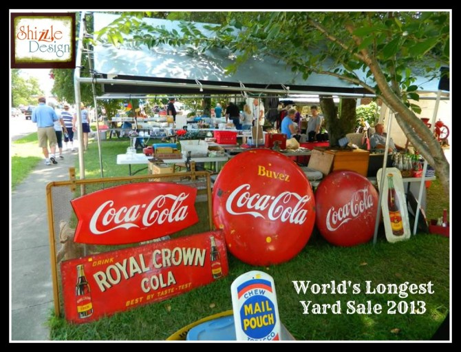 #worldslongestyardsale 2013 Shizzle Design #paintedfurniture, #pickin, #chalkpaint, best, flea markets, #paint Kentucky Hwy 127 sale