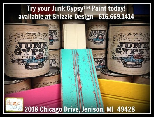 Junk Gypsy™ chalk clay paint colors retailer Shizzle Design Grand Rapids Michigan where to buy order online