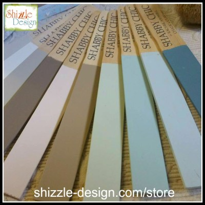 Shabby Chic Chalk Clay Paint by Rachel Ashwell pastel colors painted sticks painted furniture shizzle design grand rapids michigan retailer ecwid