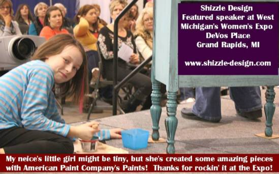 Shizzle Design West Michigan Expo Featured Speaker Painted Furniture chalk clay paint retailer supplies workshops 35
