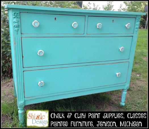 Wanderlust dresser Junk Gypsy painted antique dresser Shizzle design chalk clay paints Grand Rapids Michigan