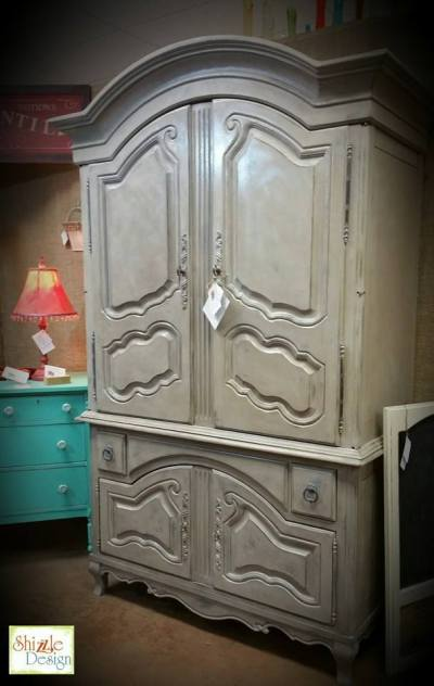 Frenchic Furniture Paint - 1 Lady Grey, Posh Nelly, Rustic Wax, White Wax, painted furniture, wardrobe, armoire, rich finish, shizzle design, michigan, chalk paint, retailer, where to buy 3