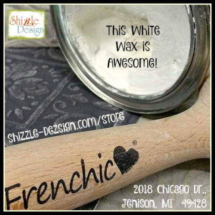 Frenchic Furniture Wax - White Wax - easy to use, best, Shizzle Design Distributor for the U.S. Jenison Michigan