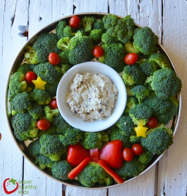 Holiday Veggie Tray with Creamy Ranch Dip Healthy Ideas