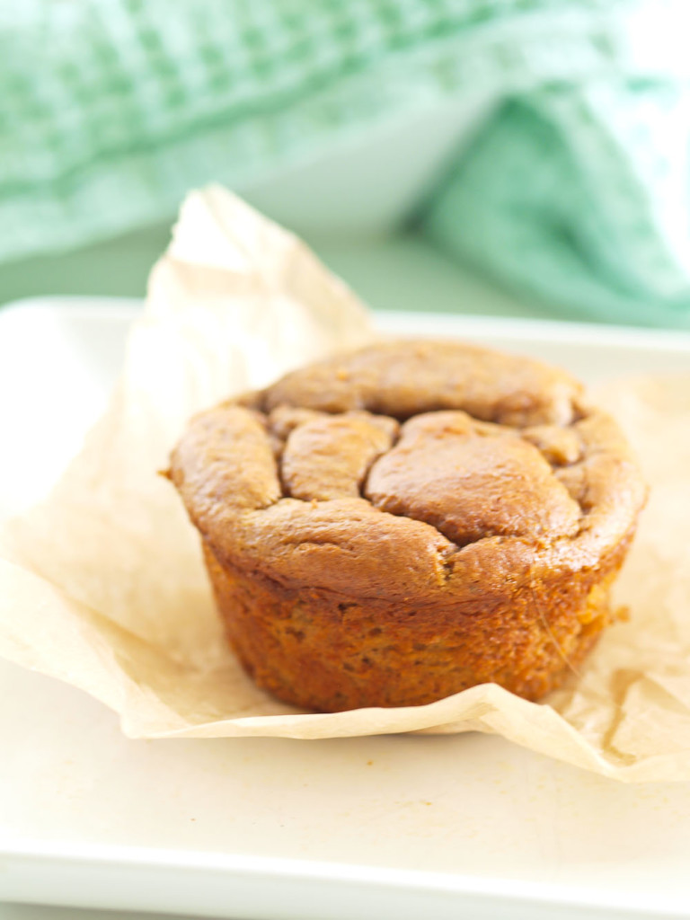 Flourless Sweet Potato Muffins....made in the blender! These would make for such a great healthy, portable breakfast for the kids!