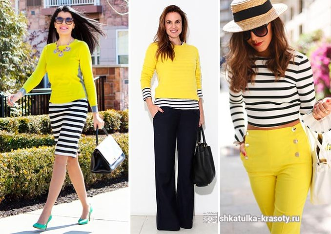 yellow color in clothes