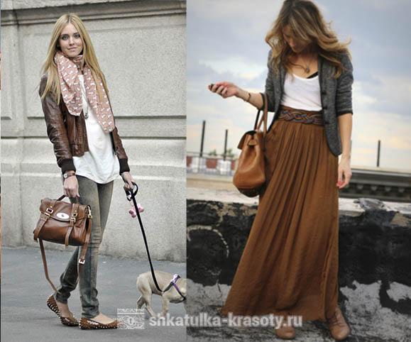 茶色の服の組み合わせ