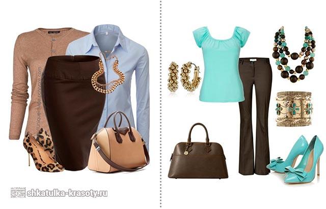 Połączenie brązu w ubraniach