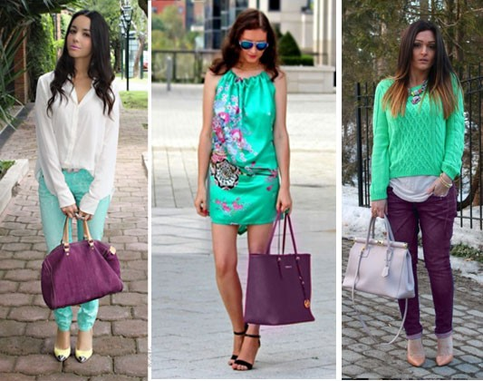 Plum color in clothes green