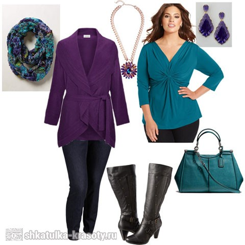 Plum color in clothes blue