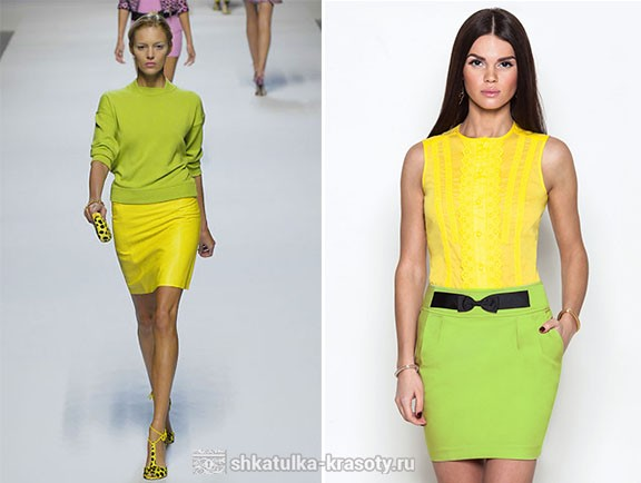 what is the combination of lime color in clothes