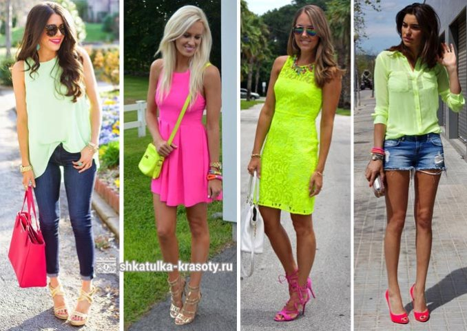 lime with pink combination in clothes